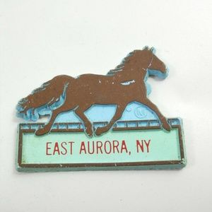 Other - EAST AURORA NEW YORK RACING HORSE Vintage MAGNET